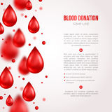 Donor Poster or Flyer. Blood Donation Lifesaving. And Hospital Assistance. Vector illustration. World Blood Donor Day Banner. Creative Blood Drops. Medical stock illustration
