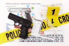 Donosi po badać DNA ofiary i podejrzewającego Zdjęcie Stock