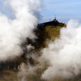 Donosicielka na górze góry Fotografia Stock