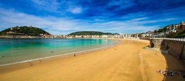 Donostia圣塞瓦斯蒂安基普斯夸省巴斯克地区西班牙 免版税库存图片