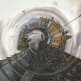 Donostia抽象看法  图库摄影