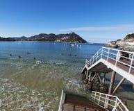 Donostia,圣塞瓦斯蒂安,比斯开湾,巴斯克地区,西班牙,欧洲 免版税图库摄影