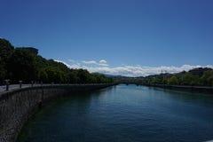 Donostia ` s rzeka obrazy royalty free