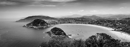 Donostia San Sebastián desde arriba foto de archivo