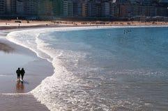 Donostia, San Sebastián, el Golfo de Biscaya, país vasco, España, Europa Imagenes de archivo