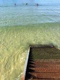 Donostia-SAN Sebastian, βασκική χώρα, πόλη, Ισπανία Η παραλία του Λα Concha από την αποβάθρα, πανοραμική άποψη Στοκ Φωτογραφίες