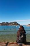 Donostia, San Sebastian, Бискайский залив, Баскония, Испания, Европа Стоковые Фото