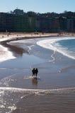 Donostia, San Sebastian, Бискайский залив, Баскония, Испания, Европа Стоковое Изображение RF