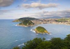 Donostia - San Sebastian. View from Mont Igueldo, Basque Country, Spain stock photo