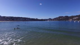 Donostia-San Sebastian, Basque Country, City, Spain. The La Concha beach, panoramic view from the pier. stock footage