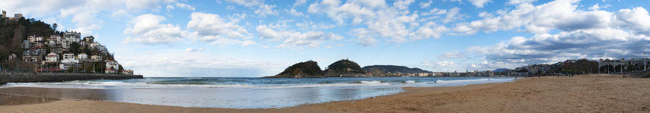 Donostia San Sebastian, Bay of Biscay, baskiskt land, Spanien, Europa Arkivbild