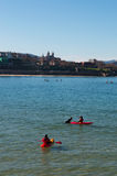 Donostia San Sebastian, Bay of Biscay, baskiskt land, Spanien, Europa Royaltyfri Foto