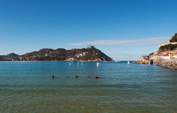 Donostia San Sebastian, Bay of Biscay, baskiskt land, Spanien, Europa Arkivbilder