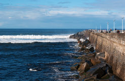Donostia San Sebastian, Bay of Biscay, baskiskt land, Spanien, Europa Royaltyfri Fotografi