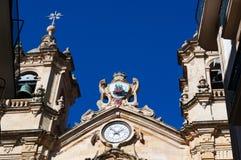 The Church of Saint Mary of the Chorus, details, baroque, San Sebastian, Bay of Biscay, Basque Country, Spain, Europe. Donostia-San Sebastian, 28/01/2017 Stock Photo