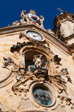 The Church of Saint Mary of the Chorus, details, baroque, San Sebastian, Bay of Biscay, Basque Country, Spain, Europe. Donostia-San Sebastian, 28/01/2017 Royalty Free Stock Image