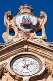 The Church of Saint Mary of the Chorus, details, baroque, San Sebastian, Bay of Biscay, Basque Country, Spain, Europe. Donostia-San Sebastian, 28/01/2017 Stock Image