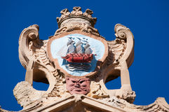 The Church of Saint Mary of the Chorus, details, baroque, San Sebastian, Bay of Biscay, Basque Country, Spain, Europe Stock Photography