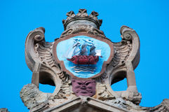 The Church of Saint Mary of the Chorus, details, baroque, San Sebastian, Bay of Biscay, Basque Country, Spain, Europe Royalty Free Stock Images