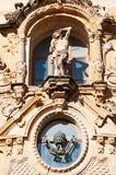 The Church of Saint Mary of the Chorus, details, baroque, San Sebastian, Bay of Biscay, Basque Country, Spain, Europe Royalty Free Stock Photos