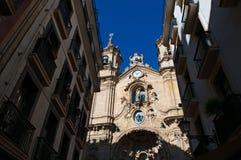 Skyline, the Church of Saint Mary of the Chorus, details, baroque, San Sebastian, Bay of Biscay, Basque Country, Spain, Europe. Donostia-San Sebastian, Basque Royalty Free Stock Image