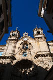 Skyline, the Church of Saint Mary of the Chorus, details, baroque, San Sebastian, Bay of Biscay, Basque Country, Spain, Europe. Donostia-San Sebastian, Basque Royalty Free Stock Photos