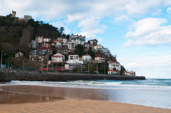 Playa de Ondarreta, beach, sand, Donostia, San Sebastian, Bay of Biscay, Basque Country, Spain, Europe Royalty Free Stock Photo