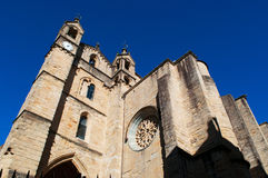 The Church of San Vicente, Donostia, San Sebastian, Bay of Biscay, Basque Country, Spain, Europe. Donostia-San Sebastian, Basque Country, 28/01/2017: view of San royalty free stock images