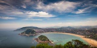Donostia San Sebastian d'en haut Images stock