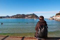 Donostia, San Sebastian, Golfe de Gascogne, pays Basque, Espagne, l'Europe Photos libres de droits
