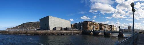 Donostia, San Sebastian, Golfo da Biscaia, país Basque, Espanha, Europa fotografia de stock royalty free