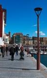 Donostia, San Sebastian, il Golfo di Biscaglia, Paese Basco, Spagna, Europa Fotografia Stock