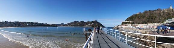 Donostia, San Sebastian, zatoka Biskajski, Baskijski kraj, Hiszpania, Europa Fotografia Stock