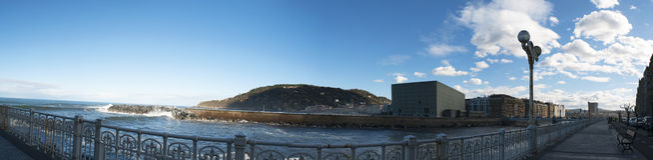 Donostia, San Sebastian, zatoka Biskajski, Baskijski kraj, Hiszpania, Europa Obrazy Royalty Free
