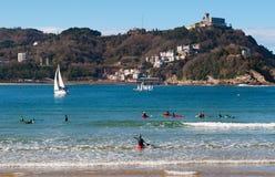 Donostia, San Sebastian, zatoka Biskajski, Baskijski kraj, Hiszpania, Europa Zdjęcia Royalty Free