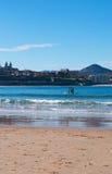 Donostia, San Sebastian, zatoka Biskajski, Baskijski kraj, Hiszpania, Europa Zdjęcie Stock