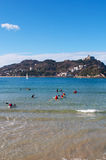 Donostia, San Sebastian, zatoka Biskajski, Baskijski kraj, Hiszpania, Europa Zdjęcia Stock