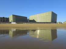 Donostia, Spanje - Juni 16: auditorium kubussen Moneo. Royalty-vrije Stock Afbeeldingen