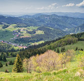 Scenic view. On village of Donovaly Royalty Free Stock Image