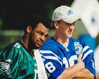 Donovan McNabb and Peyton Manning. Stock Photos