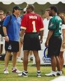 Donovan McNabb, Steve Young et Warren Moon, défi de 2001 QB Photo stock