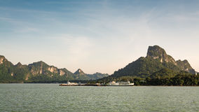 Donsak pier at surat thani province, Thailand Royalty Free Stock Images