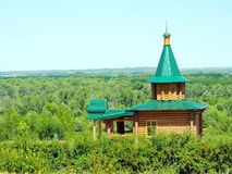 Donskie prostory. The nature of the Volgograd region. The old Church near the river Don Royalty Free Stock Photos