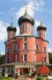 donskoy修道院莫斯科俄国 免版税库存照片