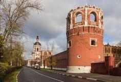 Donskoy修道院,莫斯科,俄国 库存照片