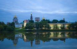 donskoy aftonklostermoscow sikt Royaltyfri Foto
