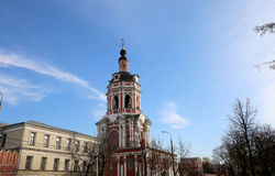 Donskoy Monastery. Medieval Russian churches on the territory. Moscow, Russia Royalty Free Stock Photo