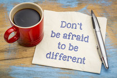 Dont be afraid to be different Royalty Free Stock Images