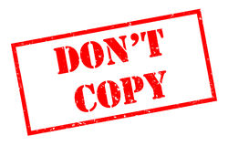 Dont copy red stamp. Isolated on white background Royalty Free Stock Photos