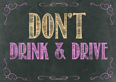 Dont Drink and Drive Royalty Free Stock Photography